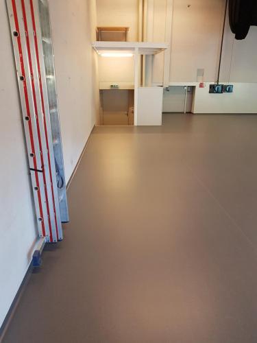 Bühnenboden aus PVC-Belag